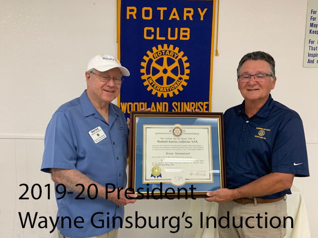 2019-20 President Wayne Ginsburg's Induction
